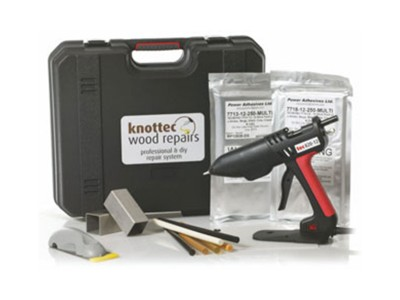 Knottec polyamide glue for wood repairs